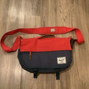 Herschel Navy Red Messenger/Laptop Bag